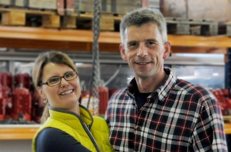 """<div class=""""orange"""">Daniel und Renate Bänziger-Gisi </div> Geschäftsführer der Firma GB Silo System AG"""